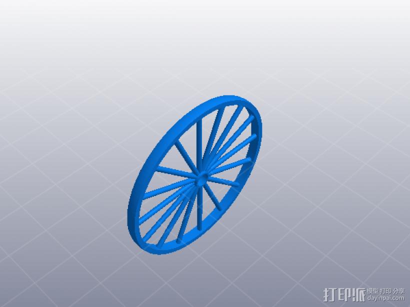 人力车 组合玩具 3D打印模型渲染图