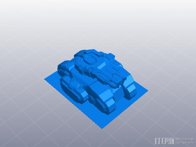 微型坦克 3D打印模型渲染图
