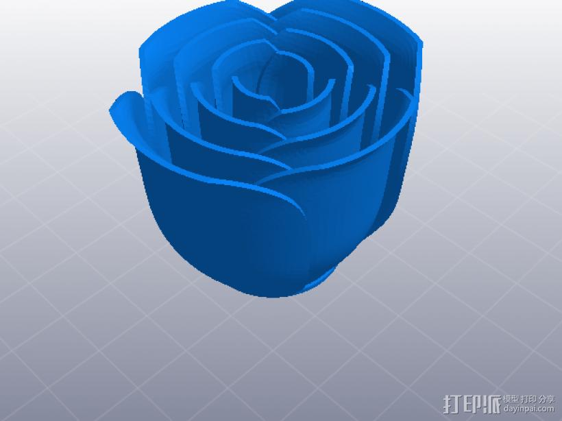玫瑰花 花枝 花瓣 3D打印模型渲染图