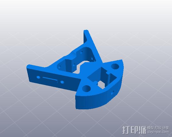 k800金属挤出框架下支架 3D打印模型渲染图