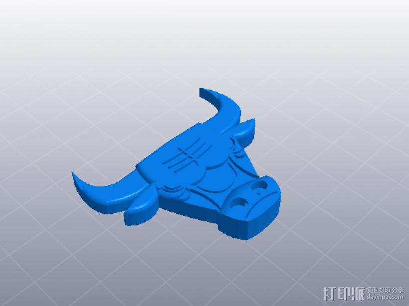 芝加哥 公牛标识 3D打印模型渲染图