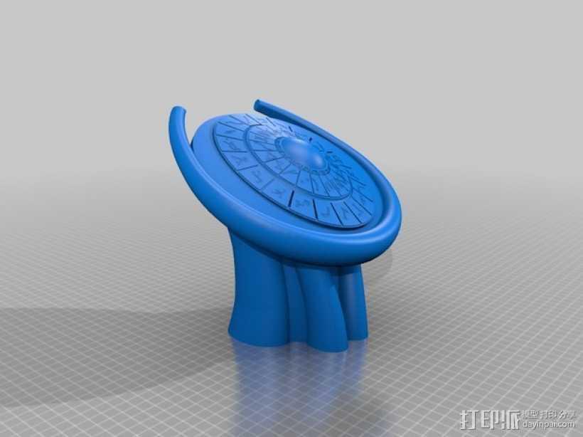 美剧星际之门拨号DHD 3D打印模型渲染图