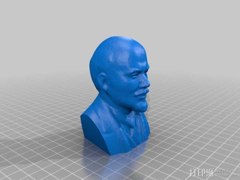 列宁头像 3D打印模型渲染图