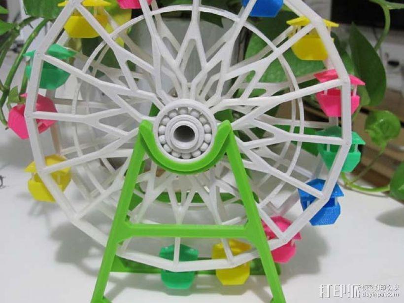 3d打印 摩天轮 大风车模型 3D打印模型渲染图