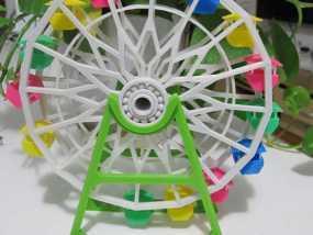 3d打印 摩天轮 大风车模型