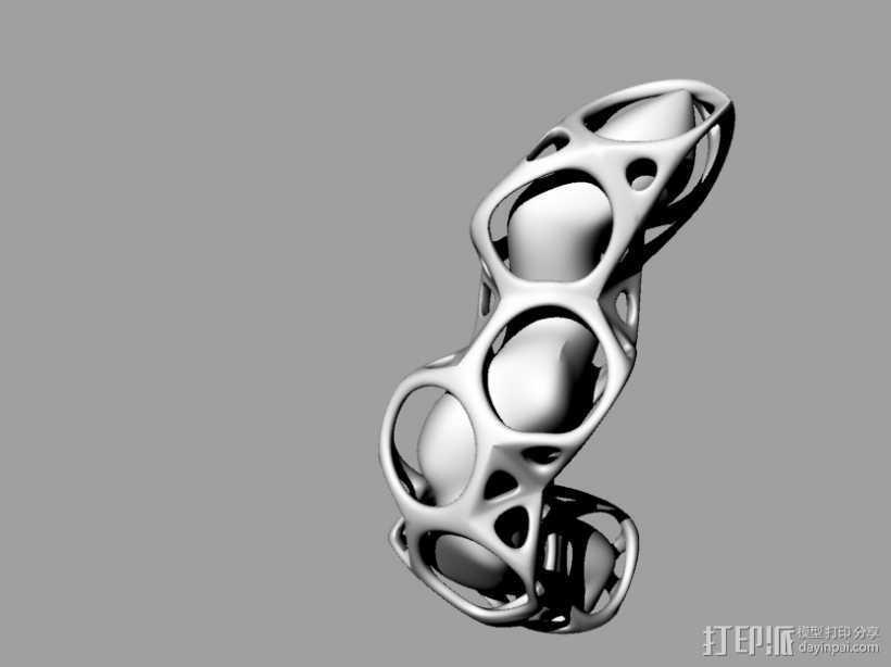 异形蜂窝 3D打印模型渲染图