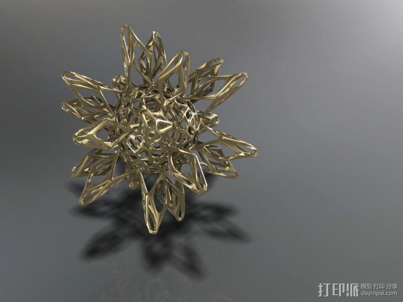 工艺品   镂空球体 3D打印模型渲染图