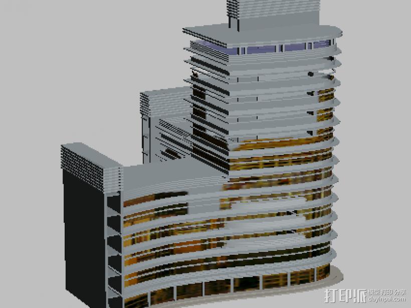 楼房 3D打印模型渲染图