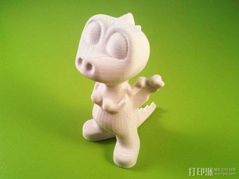 可爱小恐龙萌萌哒——磐纹模型 3D打印模型渲染图
