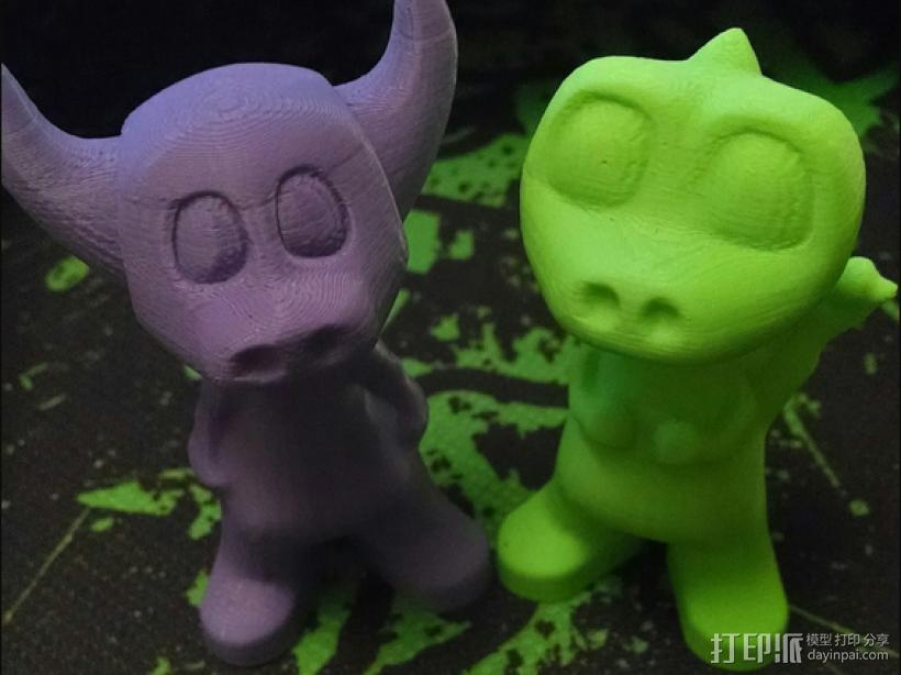 小牛牛牛魔王可爱版金牛座3D打印模型磐纹出品 3D打印模型渲染图