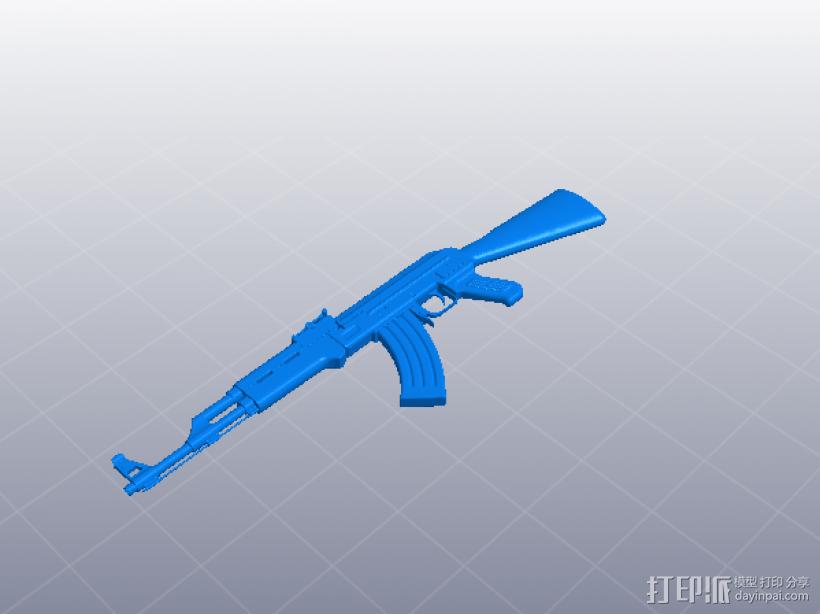 AK47 3D打印模型渲染图