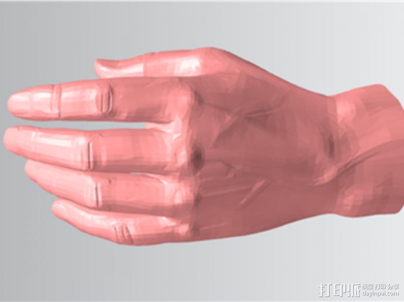 仿真手 3D打印模型渲染图