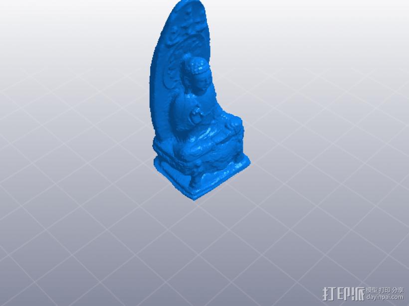 观音像 3D打印模型渲染图