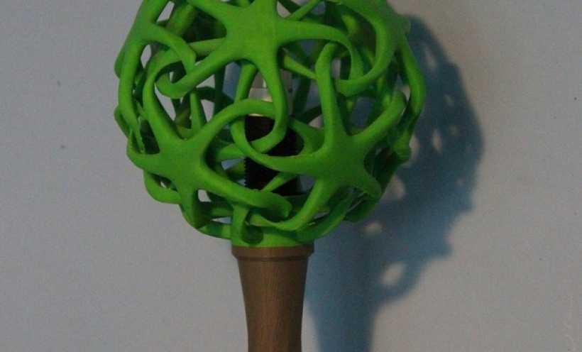 绿色台灯 3D打印实物照片