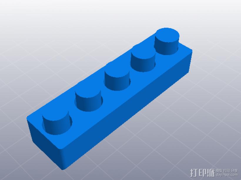 3D打印机性能测试 负空间公差测试 3D打印模型渲染图