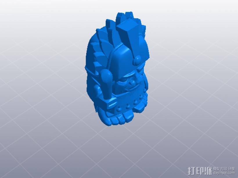 机器小人 玩偶 3D打印模型渲染图