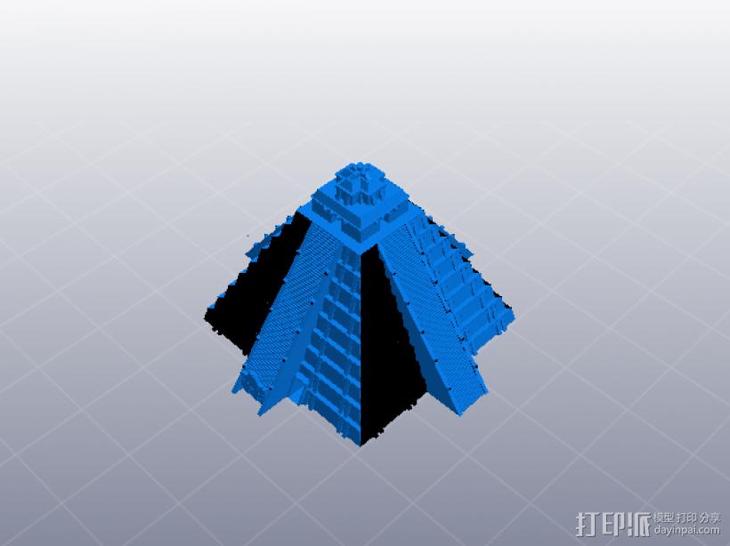 埃及玛雅金字塔 3D打印模型渲染图