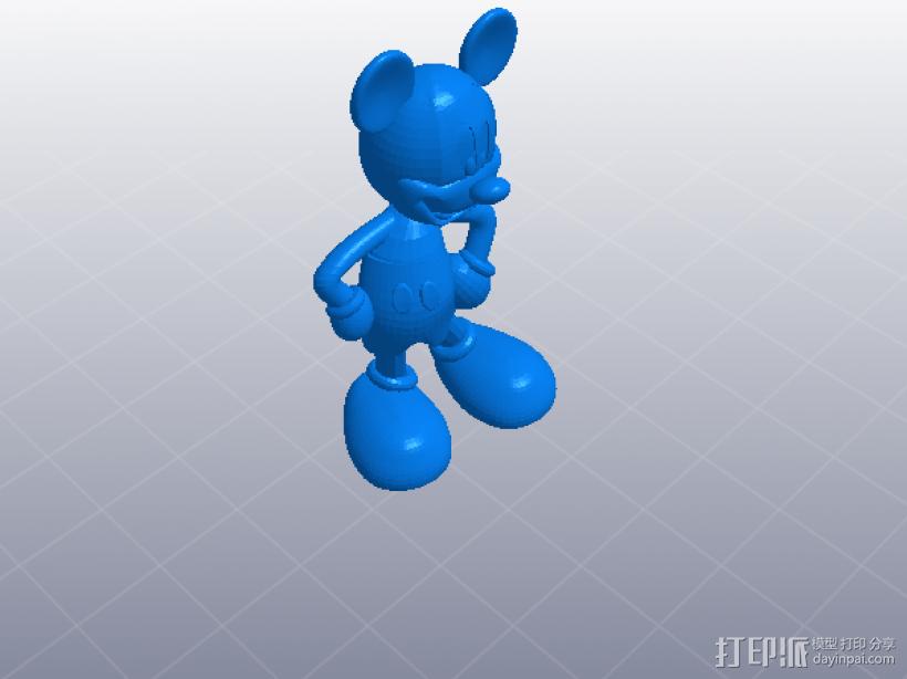 米老鼠 模型 3D打印模型渲染图
