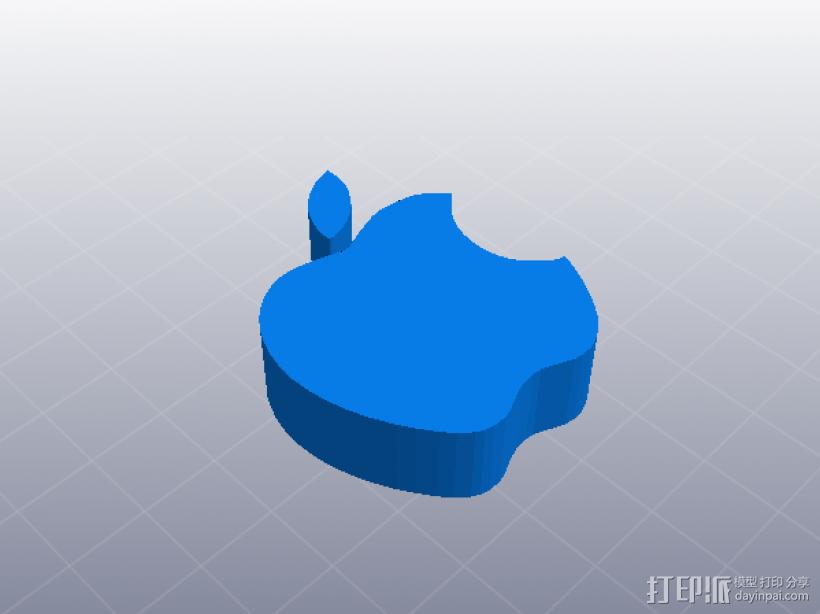 苹果公司 logo 3D打印模型渲染图