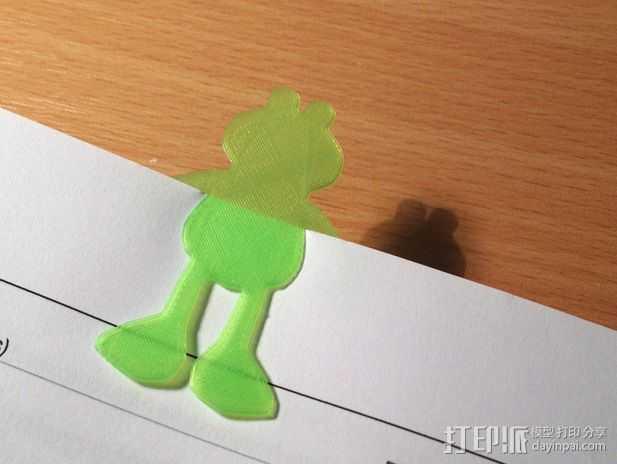 青蛙书签 3D打印模型渲染图