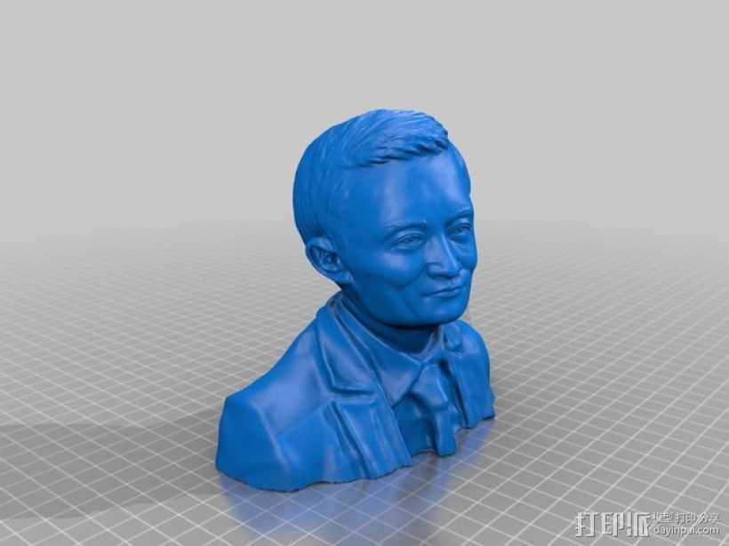 马云 阿里巴巴CEO 中国首富 3D打印模型渲染图
