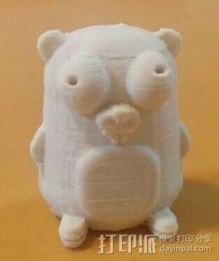 地鼠 3D打印模型渲染图