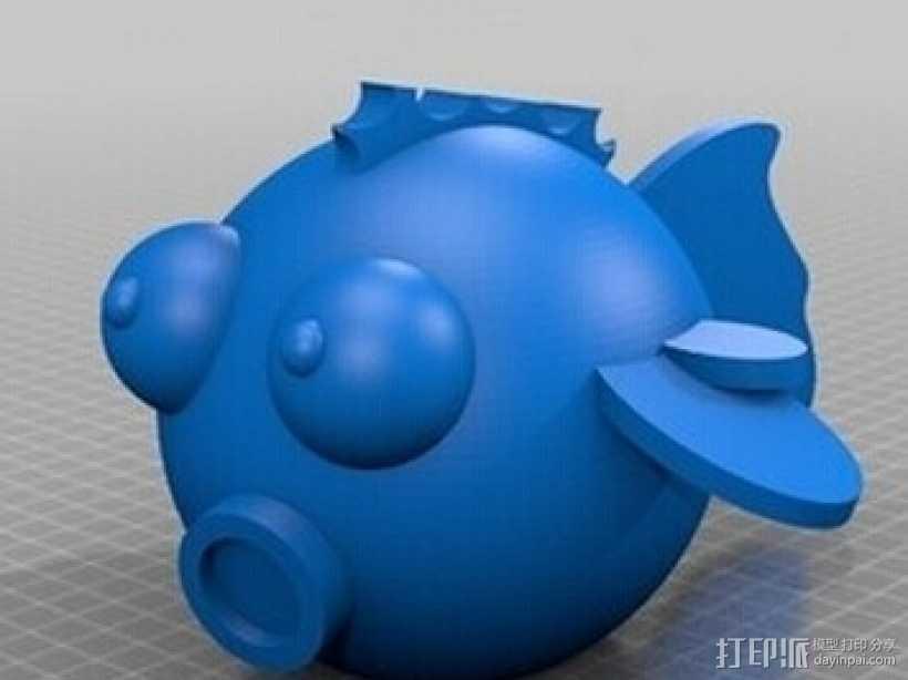 嘻哈鱼 3D打印模型渲染图