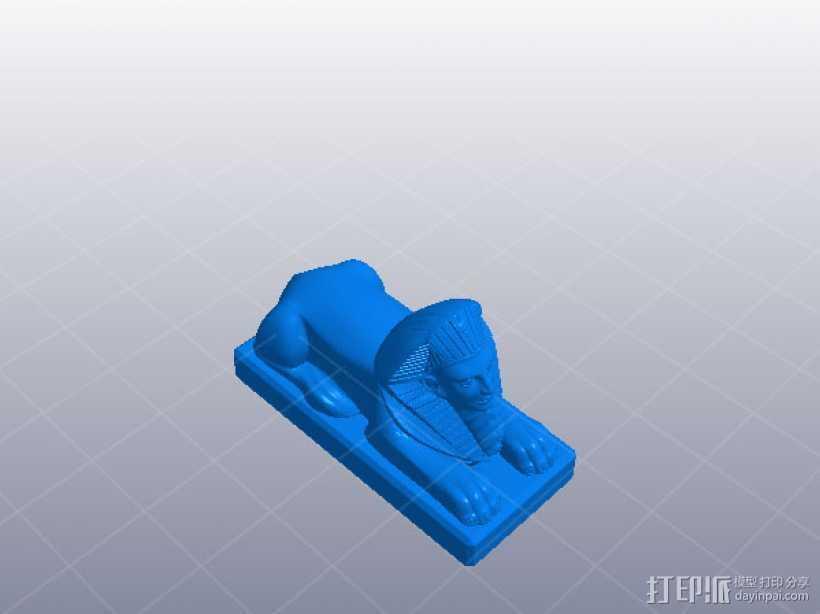金子塔狮子 3D打印模型渲染图