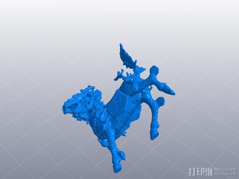 吉祥 麒麟 3D打印模型渲染图