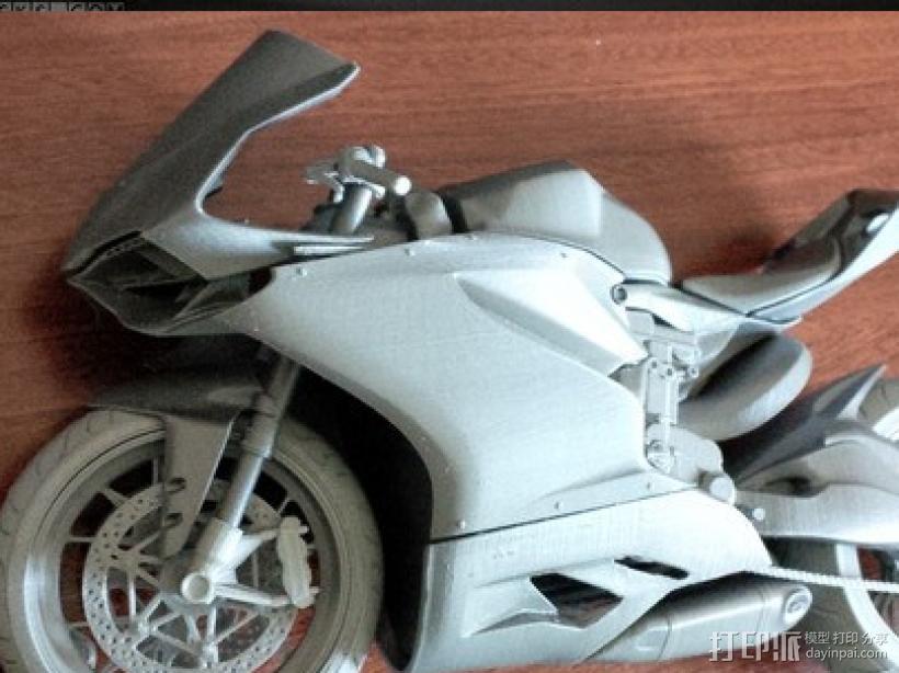 组装摩托 3D打印模型渲染图