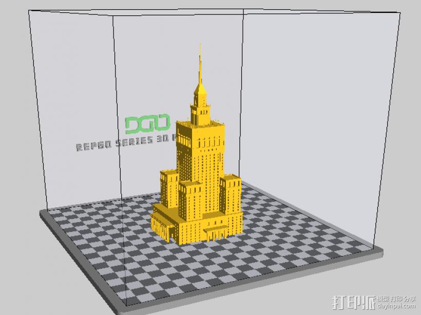 文化科学宫 3D打印模型渲染图