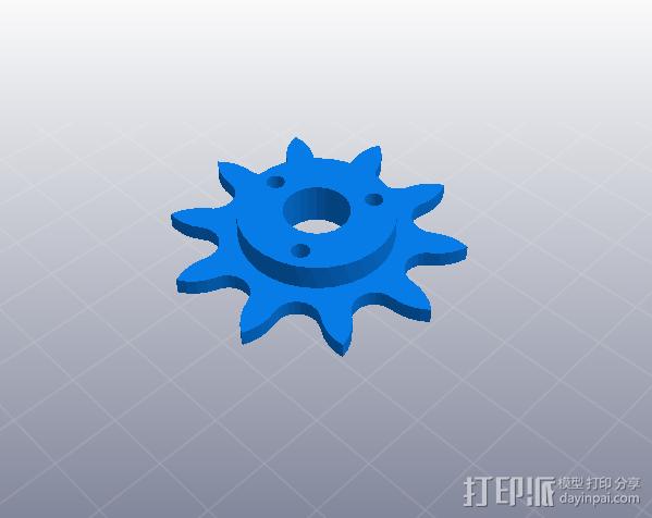工具 齿轮 3D打印模型渲染图
