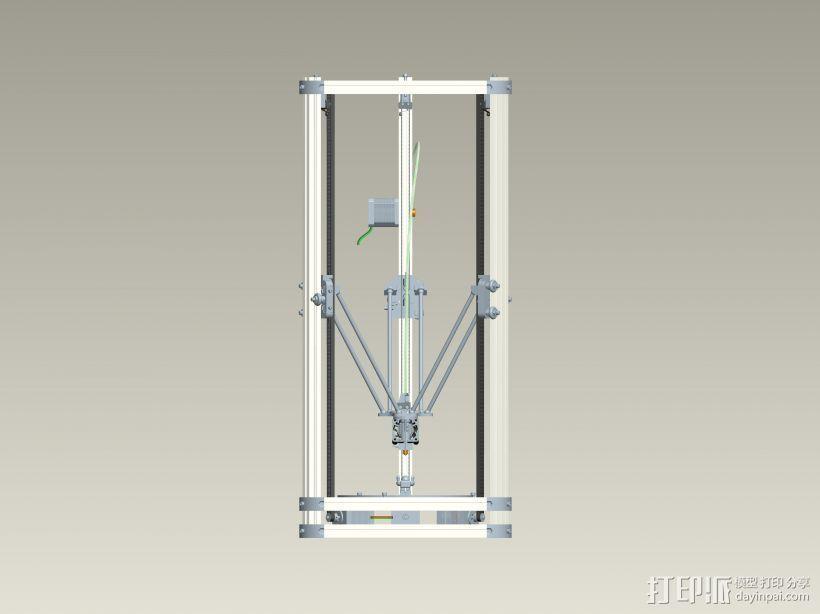 K800 3D打印机3D模型 3D打印模型渲染图