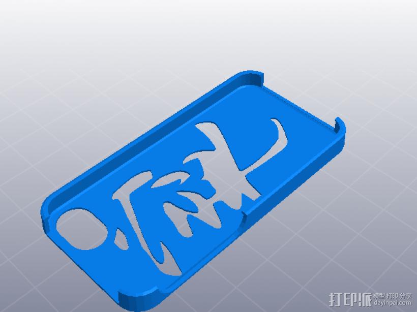 iphone 5_5s 宁静以致远手机壳 3D打印模型渲染图