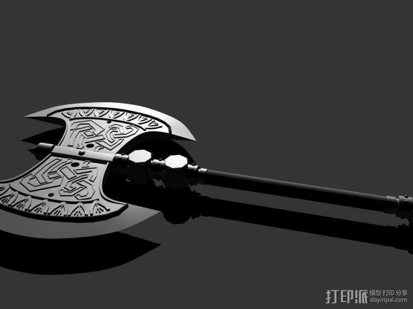 斧头 3D打印模型渲染图