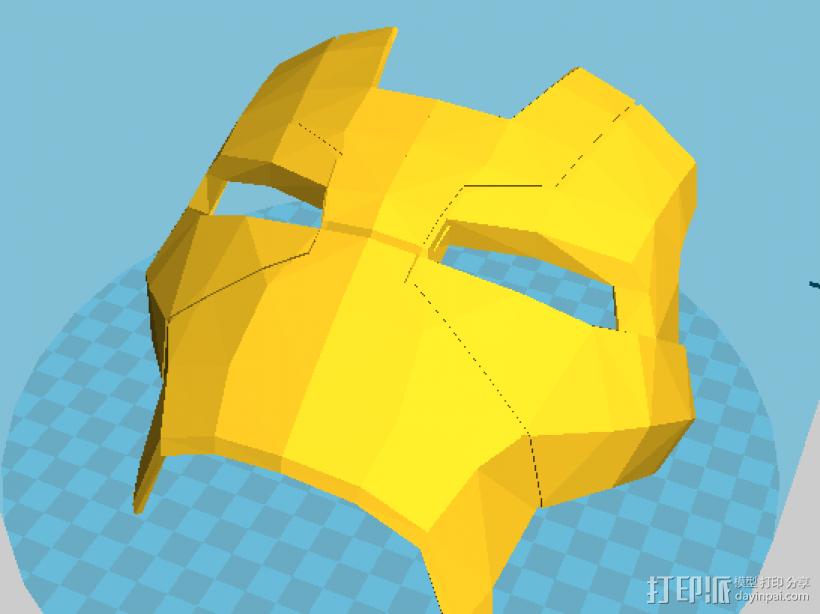 钢铁侠MK17面具 3D打印模型渲染图