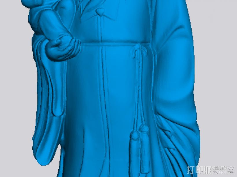 福禄寿 3D打印模型渲染图