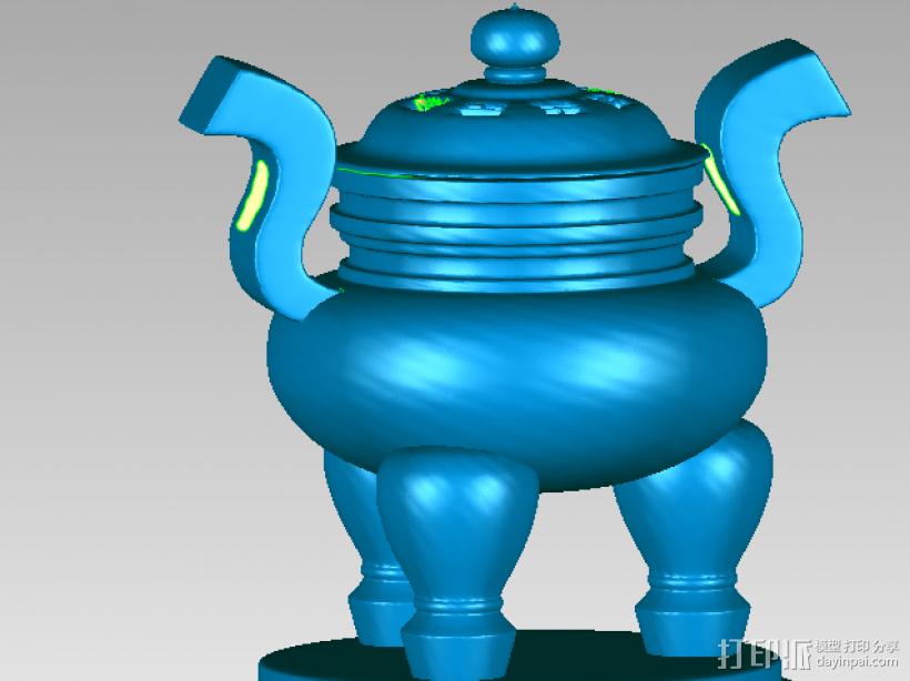 秦鼎 3D打印模型渲染图