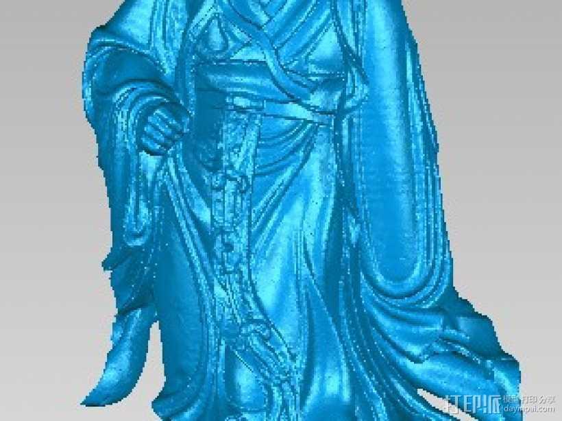 三国诸葛亮 3D打印模型渲染图