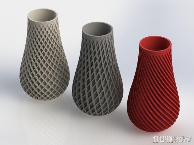 三种风格花瓶 3D打印模型渲染图