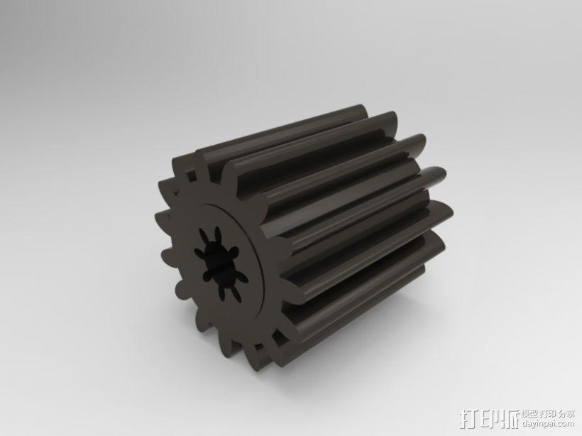 小齿轮 3D打印模型渲染图