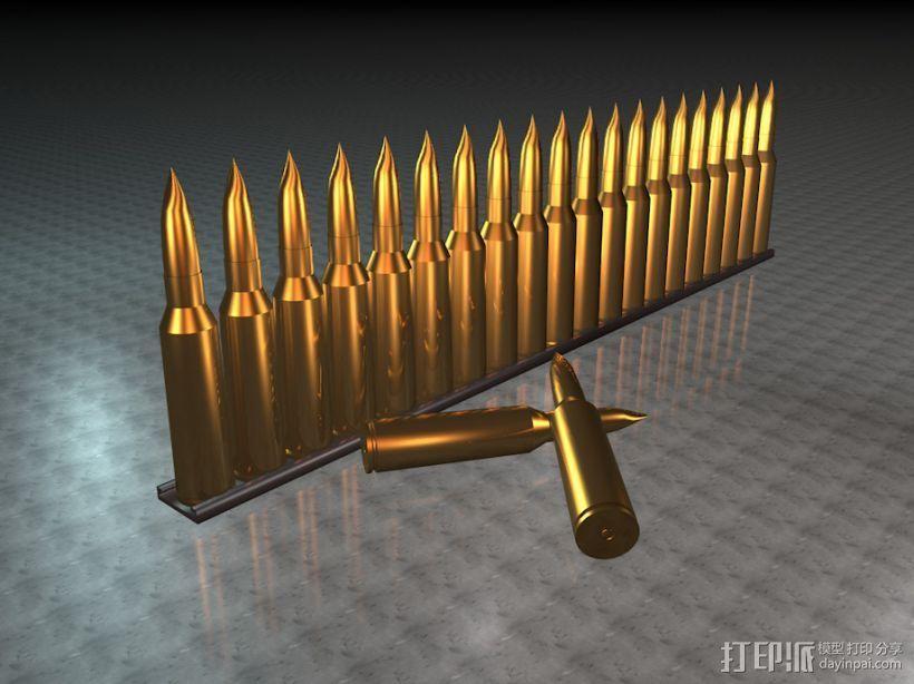 子弹 3D打印模型渲染图