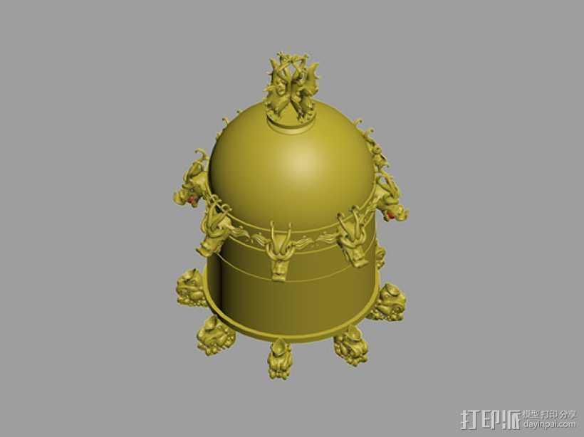 地动仪 3D打印模型渲染图