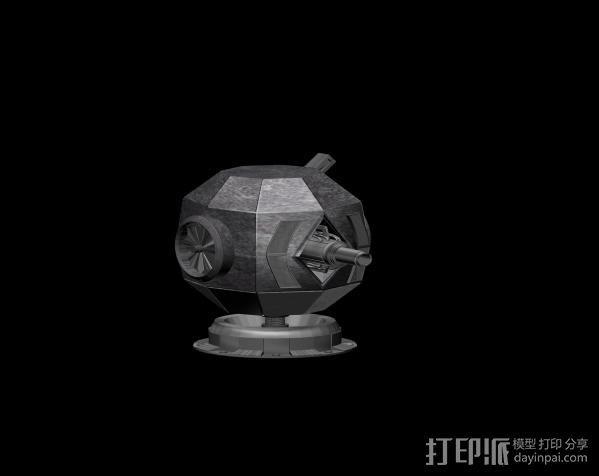塔 3D打印模型渲染图