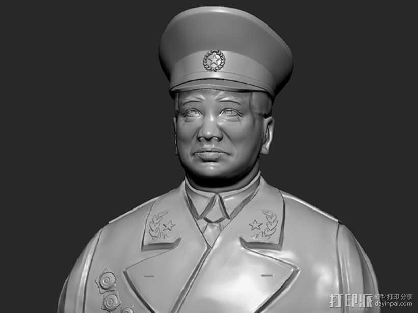 十大元帅 之 彭德怀 半身雕塑 3D打印模型渲染图