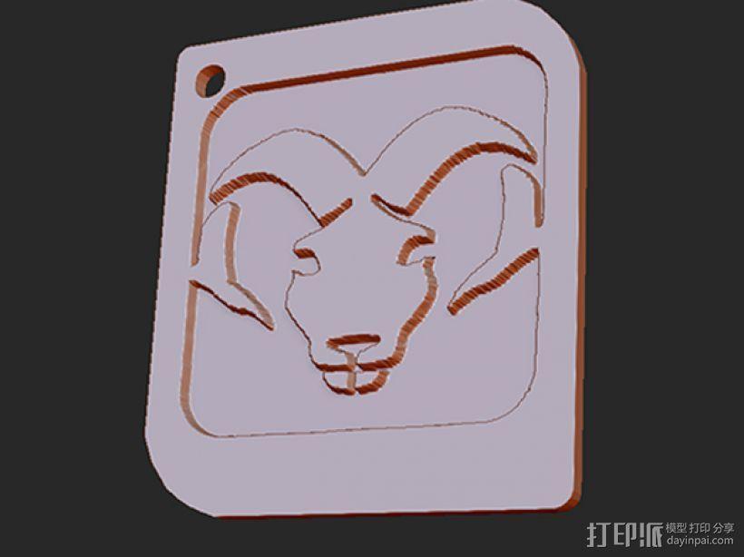 十二星座 系列 之 白羊座 3D打印模型渲染图