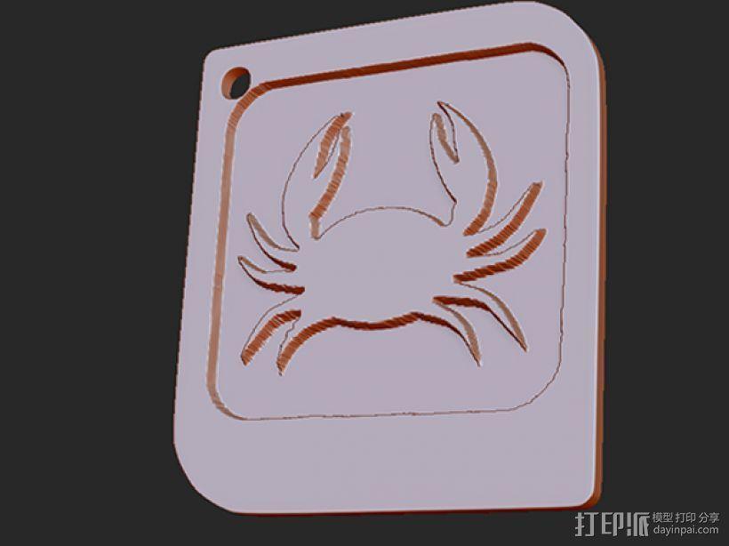 十二星座 系列 之 巨蟹座 3D打印模型渲染图