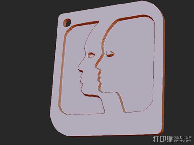 十二星座 系列 之 双子座 3D打印模型渲染图