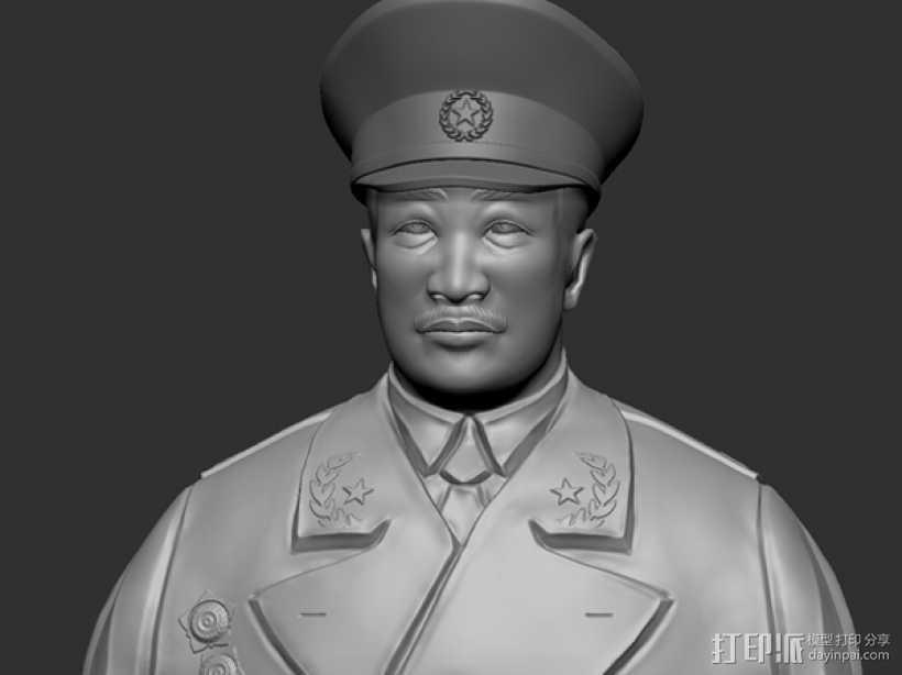 十大元帅 之 贺龙 半身雕塑 3D打印模型渲染图