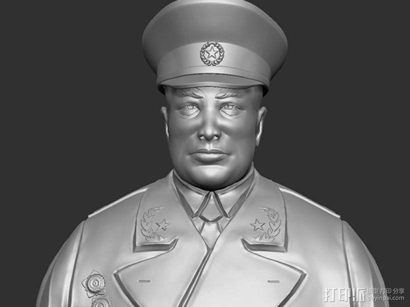 十大元帅 之 陈毅 半身雕塑 3D打印模型渲染图